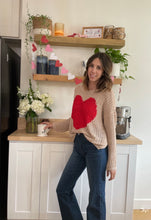 Load image into Gallery viewer, Soft large knit heart sweater - Branches and Blossoms