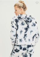 Tie Dye Pullover with Drawstring Hoodie