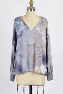 Cloud Tie Dye Pullover - Branches and Blossoms