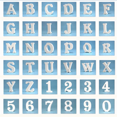 12MM Thickness Wedding Party Home Decor Wooden Wood letters Alphabet   Numbers Decoration  DIY Word Handmade