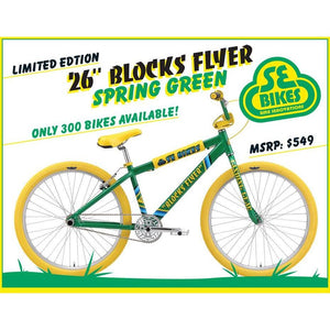 "SE Blocks Flyer 26"" Spring Green"