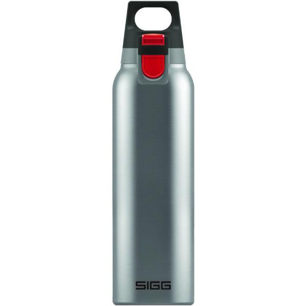 SIGG Hot and Cold One Water Bottle 0.5L Brushed Steel with Tea Filter