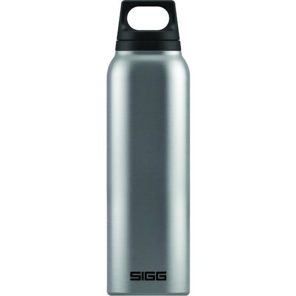 SIGG Hot and Cold Water Bottle 0.5L Brushed Steel with Tea Filter