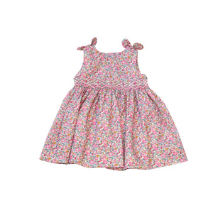 Robe Gina Diwan bébé en Liberty sans manches smocks fait main bloomer assorti