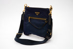 Prada Royal Blue Nylon Crossbody Bag