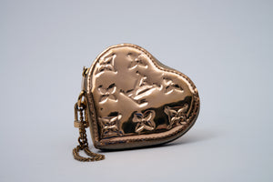 Louis Vuitton Miroir Mirror Heart Coin Purse Gold