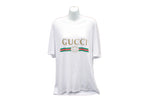 Gucci white classic Oversized T-shirt with logo