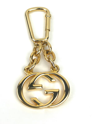Gucci Interlocking GG Gold Key Ring and Bag Charm