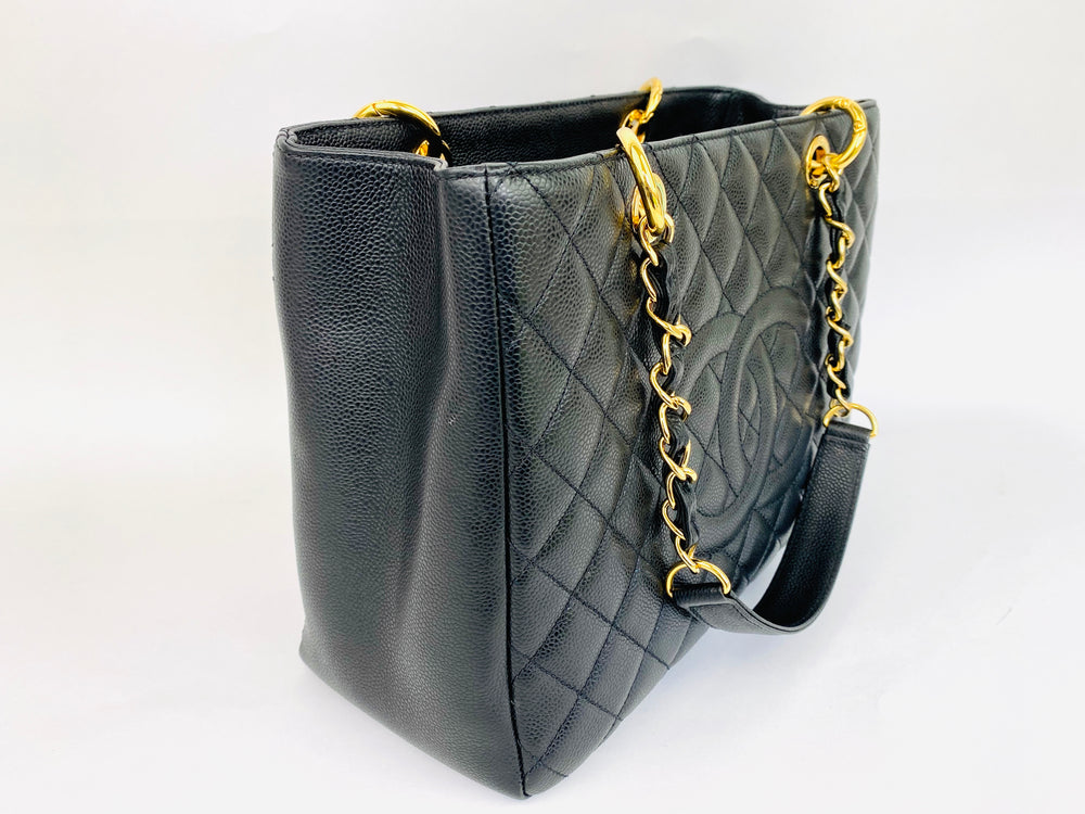 Chanel Black Grand Shopping Tote with Gold Hardware