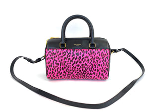 YSL Pink Leopard Mini Duffle Bag