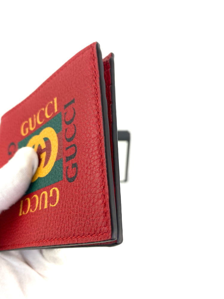Gucci Red Logo Bifold Wallet