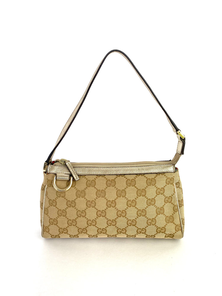 Gucci D-Ring GG Gold Pochette