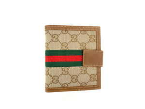 Gucci GG French Flap Sherry Line Bifold Wallet