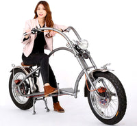60V Electric Fat Tire Motorcycle Scooter Chopper / Harley Design Beach Cruiser Bike Bicycle
