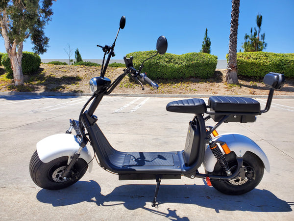 New 2000W + 40AH Double Seat Electric CityCoco Fat Tire Scooter Motorcycle Bike