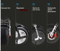 NEW 2000W 60V Electric Wide Fat Tire Kick Scooter Design CityCoco Bike eBike 18AH