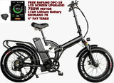 New 48V 750W Electric Bike Bicycle Off Road Fat Snow Tires EBike 17AH Lithium