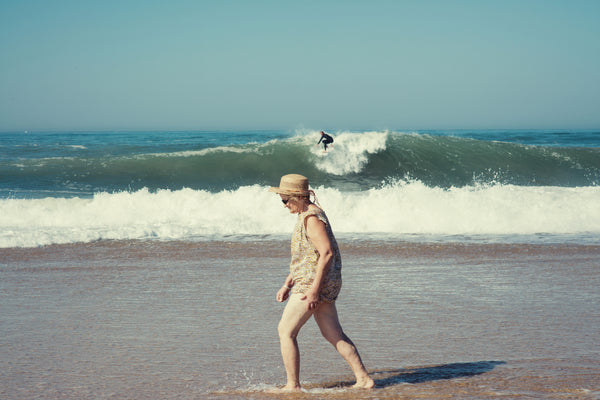 Surfer and Grand Ma