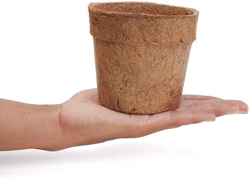 Round Plant Compressed Coco Coir Pot with Disk (4 in, 16 Pack)