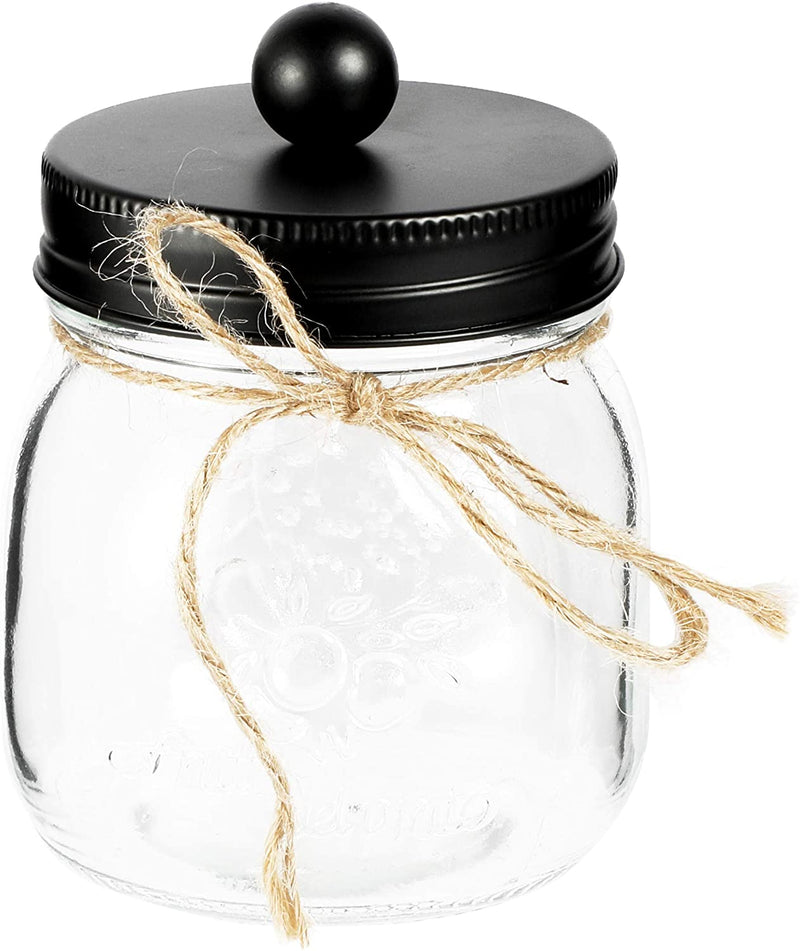 Farmlyn Creek Rustic Glass Soap Dispenser and Mason Jar Canisters (3 Pieces)