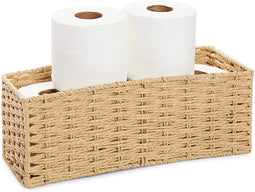 Farmlyn Creek Seagrass Storage Basket for Bathroom Paper Holder (15 x 6 x 5.5 in)