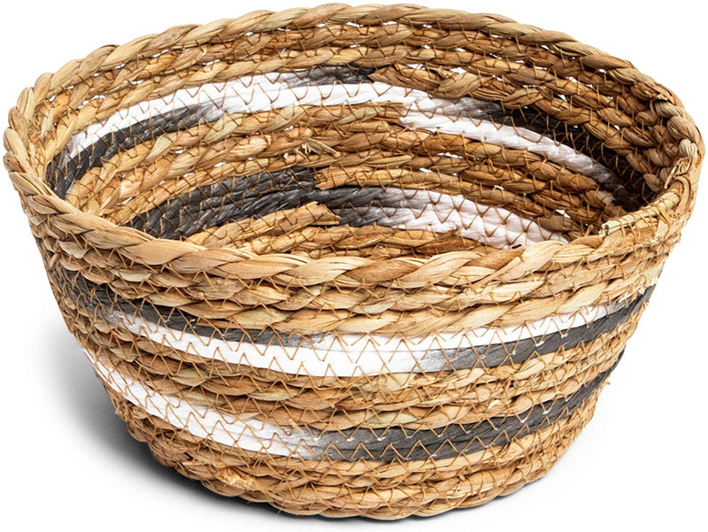 Farmlyn Creek Round Wicker Nesting Baskets for Storage (3 Pieces)