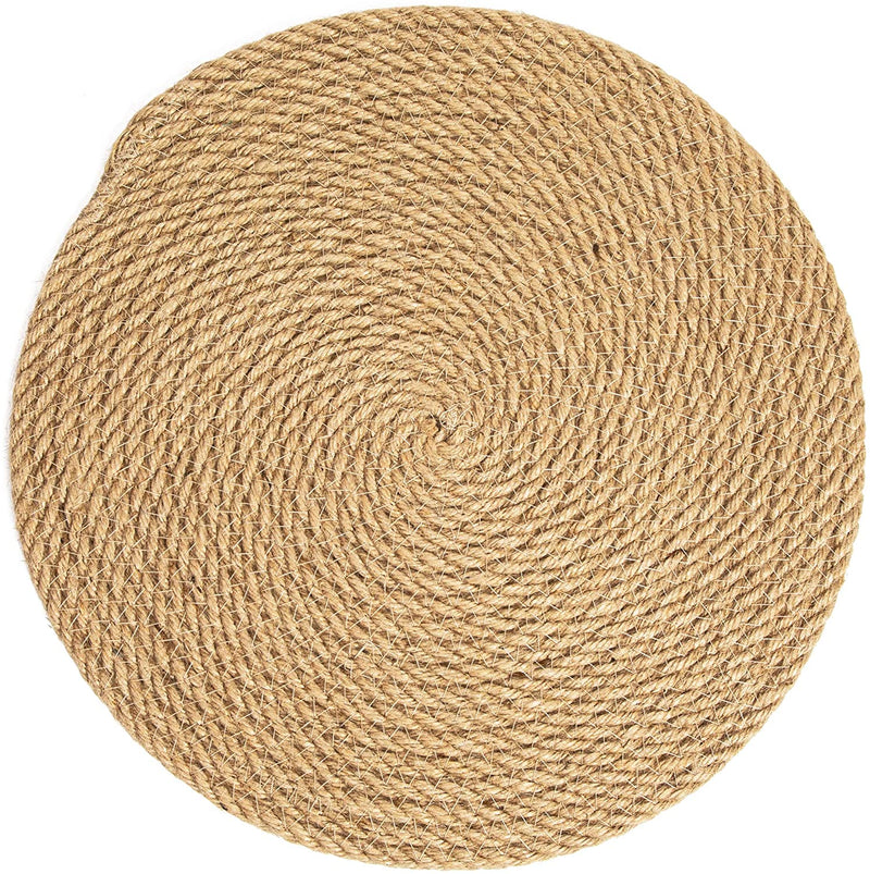 Gather Jute Woven Placemats, Thanksgiving Placemat Set (13 in, 4 Pack)