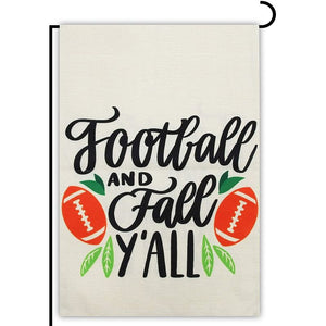 Outdoor Vertical Garden Flag, Football and Fall Ya'll (12.5 x 18 in)