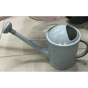 Plant Watering Can with Handle, Green Plastic (12 x 6.5 x 5 Inches)