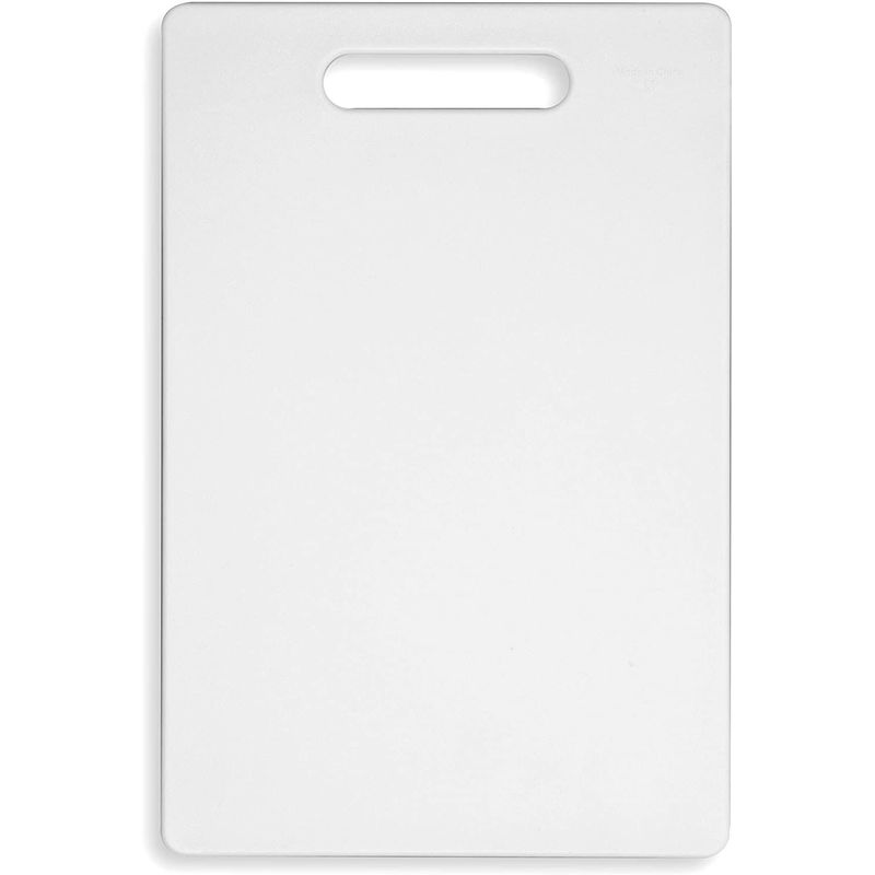 Plastic Cutting Boards for Kitchen (White, 7.75 x 11.75 In, 2 Pack)