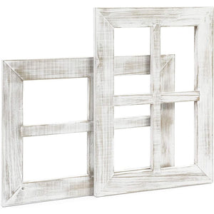 White Window Frame Farmhouse Wall Decor (11 x 15 Inches, 2 Pack)