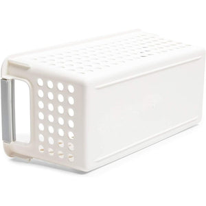 Farmlyn Creek Plastic Storage Baskets, White Nesting Bin Containers (4 Pack)