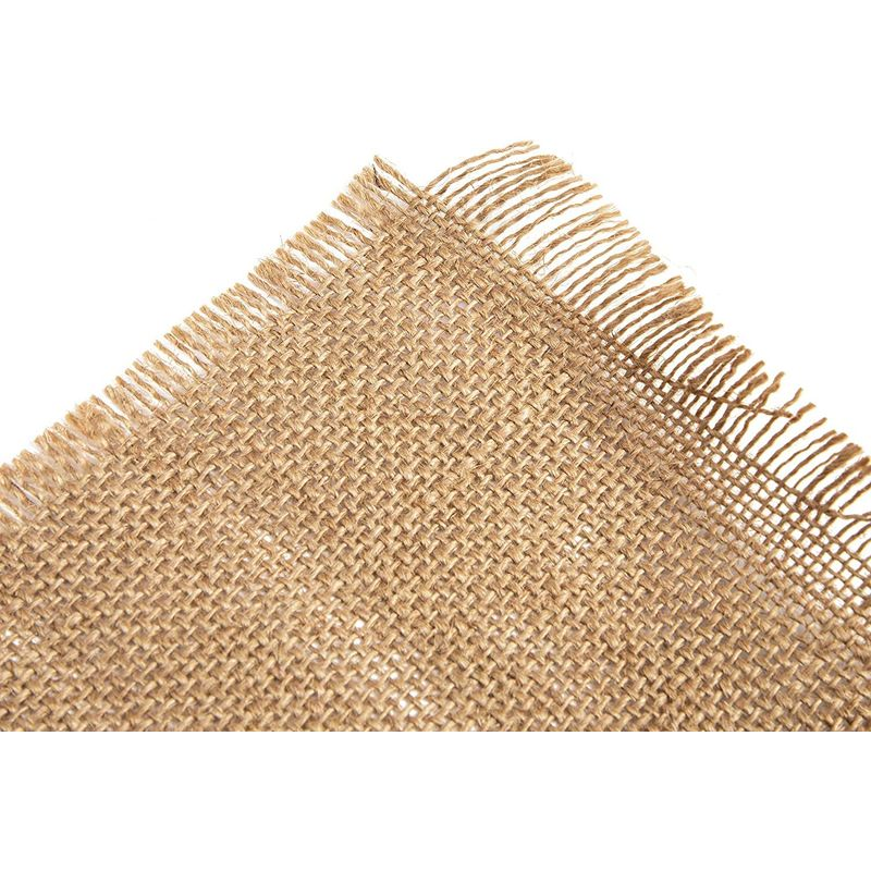 Woven Burlap Placemats, Rise and Shine It's Coffee Time (17.7 x 13.8 in)