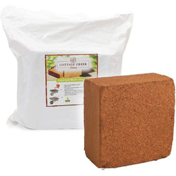 Compressed Coco Coir Block (12 x 12 x 4.5 in, 5kg)