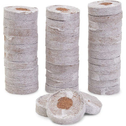 Coco Coir Pellets, Soil Disks wrapped in Non-Woven Fabric (1.5 In, 36 Pack)