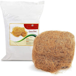 Coconut Husk Substrate for Reptile Bedding and Plants, Loose (10 oz)