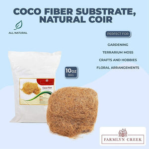 Coco Fiber Substrate, Natural Coir (15.5 x 10.5 x 2 In, 10 oz)