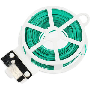 Garden Twist Ties with Cutter, Green Wire for Plants, Flowers (656 Feet, 4 Rolls)