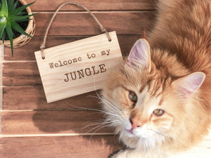 "Cartel ""Welcome to my Jungle"""