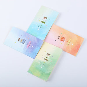 Mini Cute Kawaii Journal Diary Notebook With Lined Paper Vintage Retro Notepad Book For Kids Korean Stationery