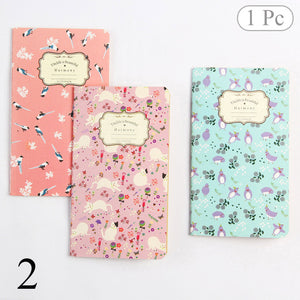 Cute Flower Diary Sketchbook Vintage Bullet Journal Kraft Paper Notebooks For Kid Girl School Office Supplies Novelty Stationery