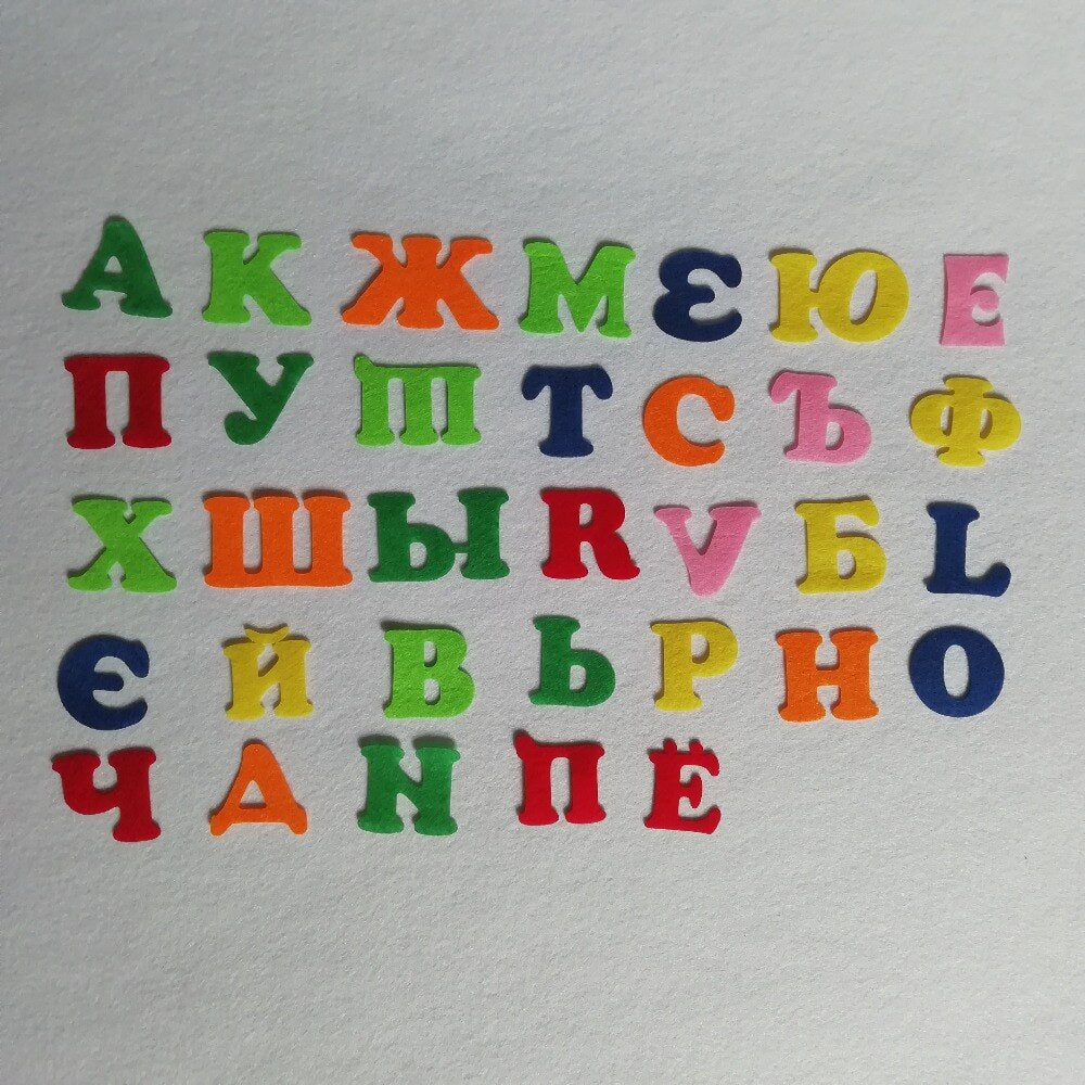 Partywakaka Early education Russian letters 33 letters Party Felt For Kids Rooms Diy Home Decoration Decoration Bunting supply