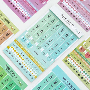 Rainbow Color Monthly  weekly Planner index stickers Notebook daily schedule label stickers Agenda DIY accessories Stationery