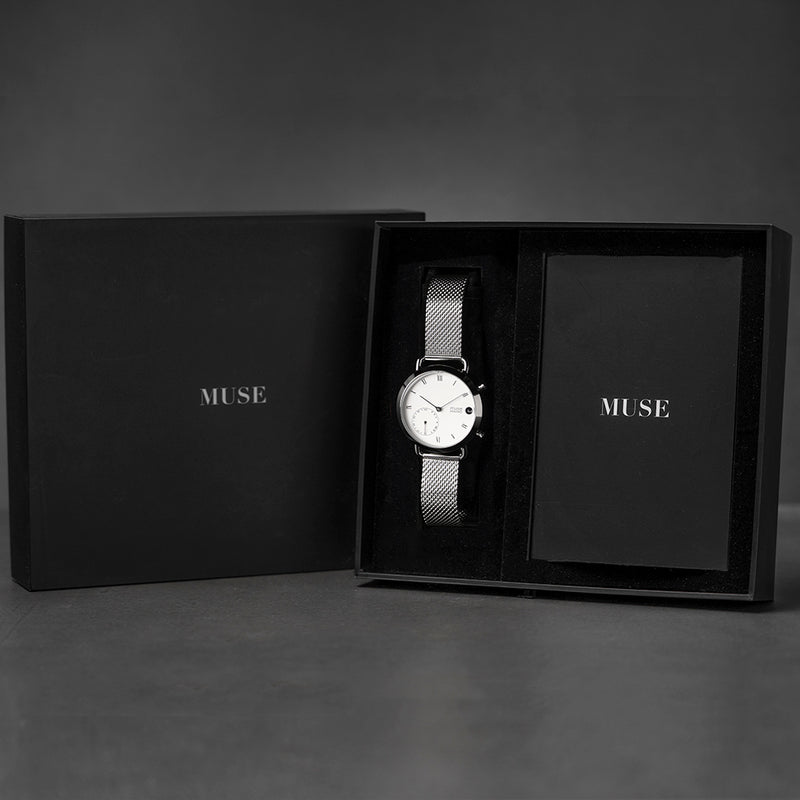 Muse Minimo Classic White 18mm Milanese Edition
