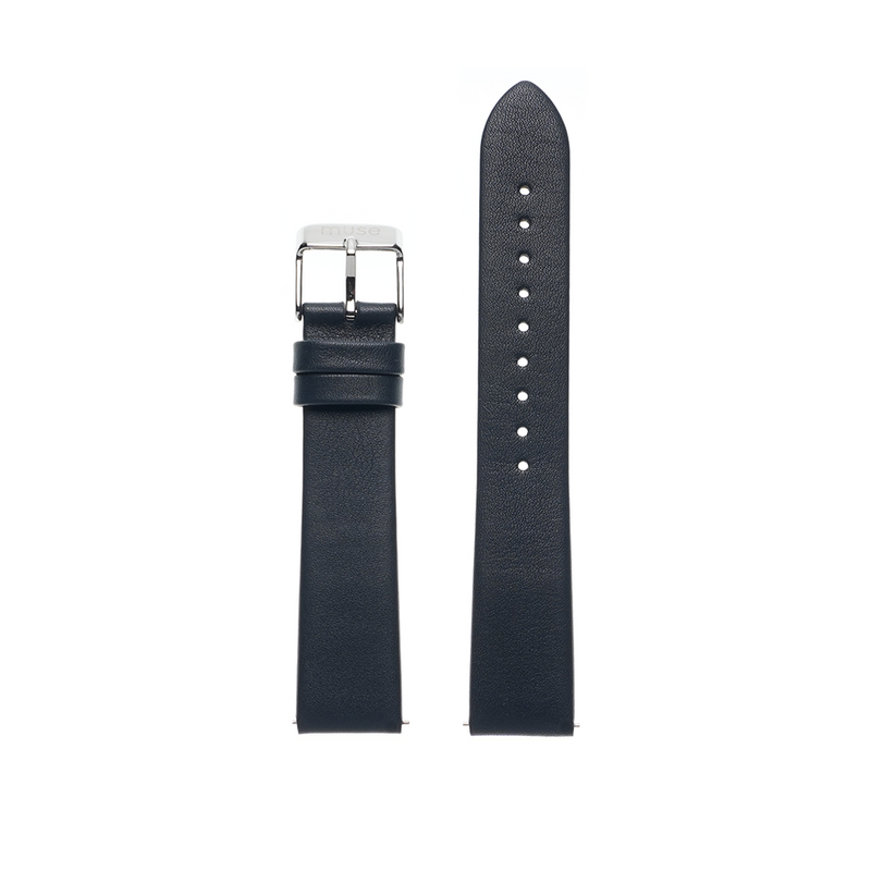 Foulard Navy Blue Leather Strap