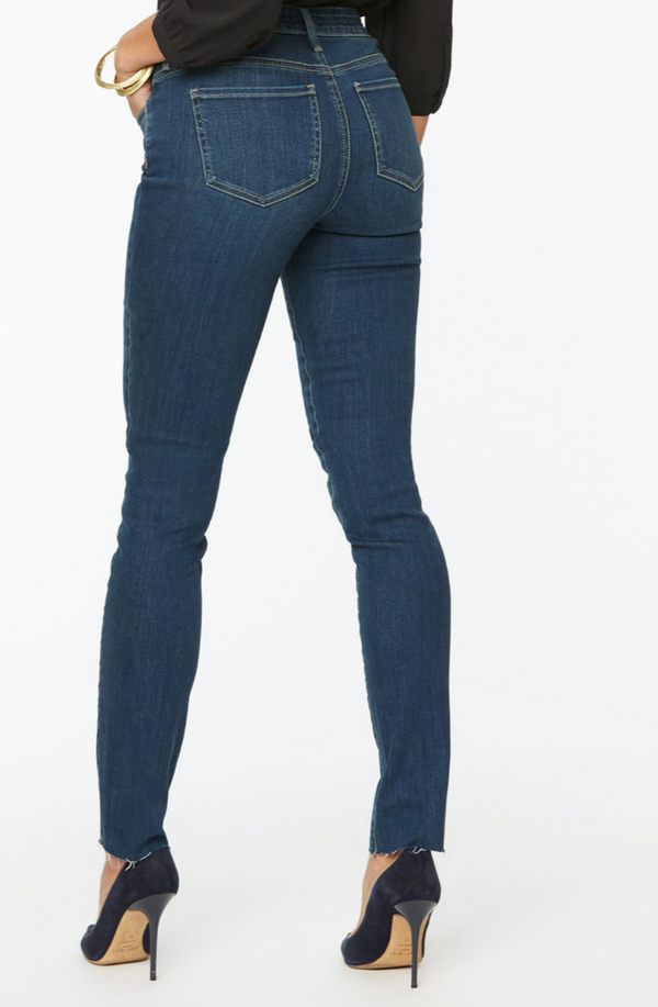 Alina Skinny Jeans With Frayed Hems