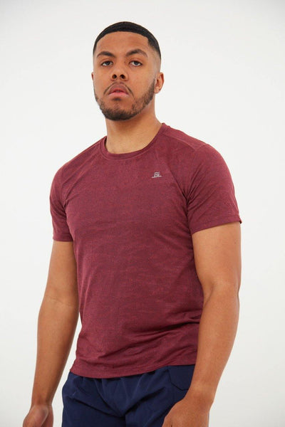 Revive High Performance Activewear Tee  - Burgundy - Little By Little