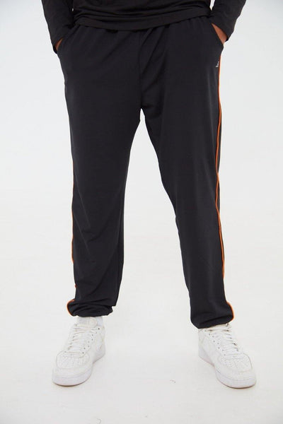 Academy Orange Striped Black Joggers - Little By Little