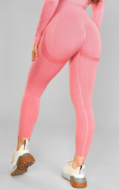 Alex Seamless Scrunch Leggings - Pink - Little By Little