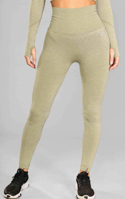 Alex Seamless Scrunched Leggings - Olive Green - Little By Little